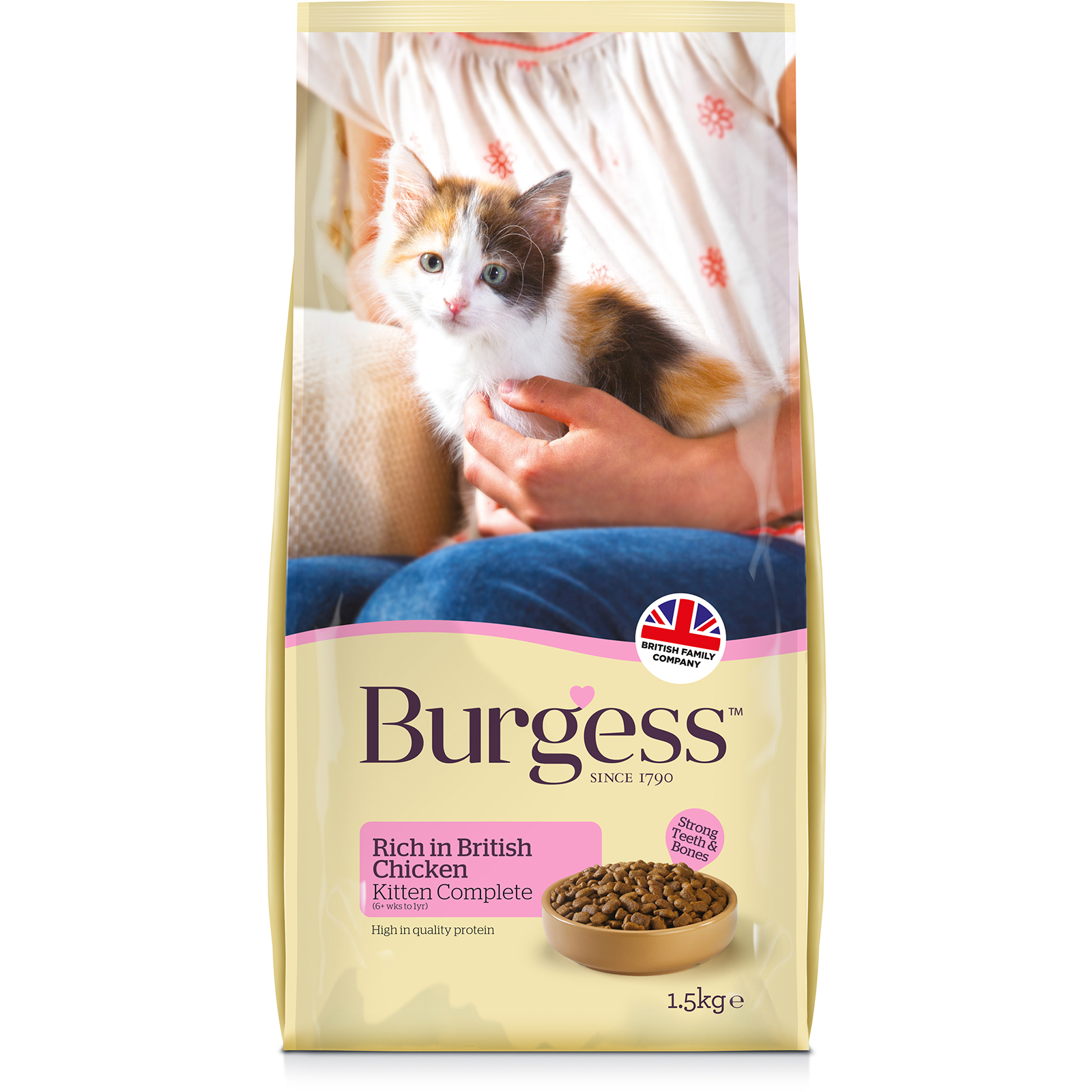 Burgess Kitten with Chicken (1.5kg)