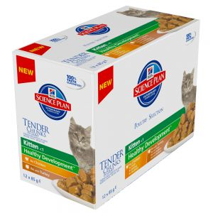 Hill's Kitten Pouches Poultry Selection