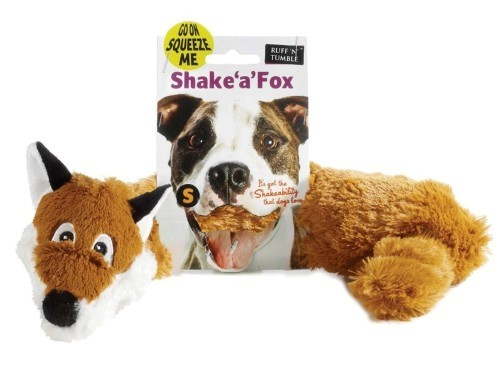 Shake 'A' Fox Soft Dog Toy