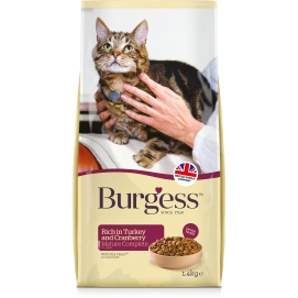 Burgess Mature Cat Turkey (1.4kg)