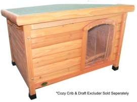 Cheeko Wooden Flat Roof Kennel (Medium)