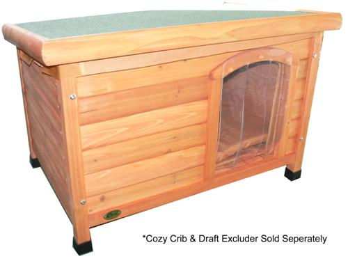 Cheeko Wooden Flat Roof Kennel (Large)